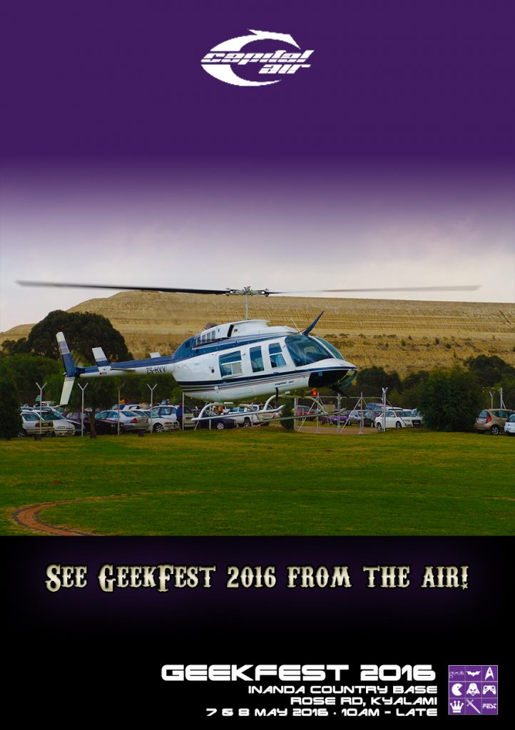 Capital Air helicopter flips at GeekFest 2016